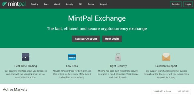 MintPal - Bitcoin Exchanges