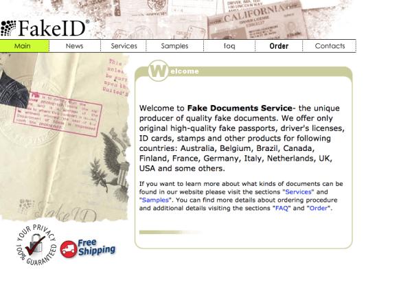 Fake ID found on deep web