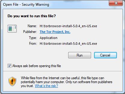 Tor Browser Installation-step 1