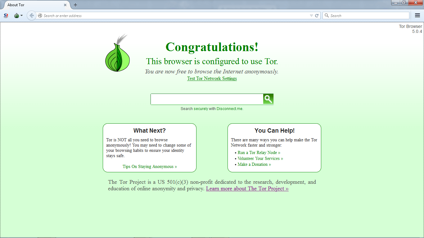 Tor Browser Installationstep 8