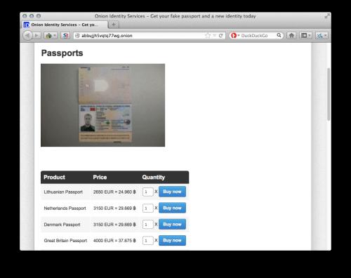 Deep Web Screenshots