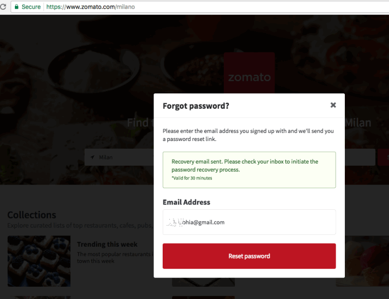 'Zomato' a Restaurant service website hacked with 17 million accounts sold on Dark Web